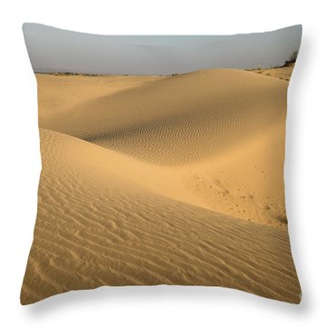 Throw Pillow featuring the photograph Desert by Yew Kwang