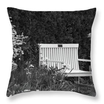Desolate In The Garden Throw Pillow