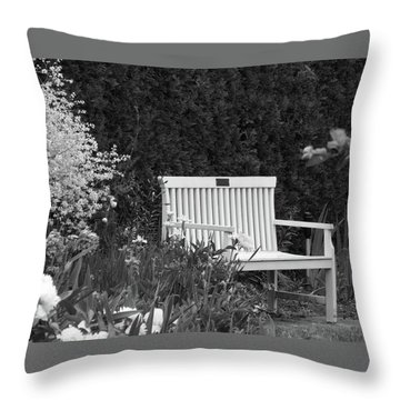 Desolate In The Garden Throw Pillow