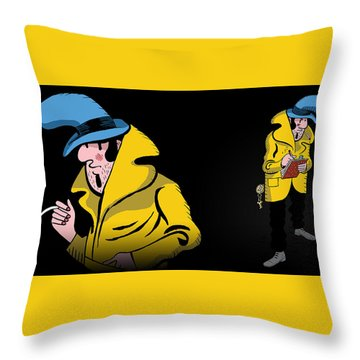 Detective Case And Clown Bot In Murder In The Hotel Lisbon Throw Pillow