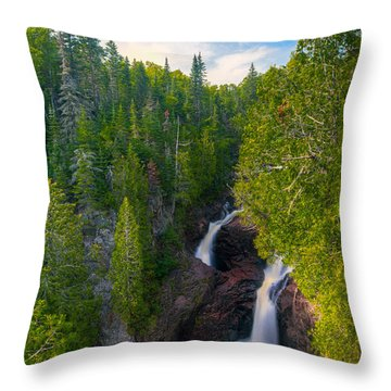 Devil's Kettle  Throw Pillow
