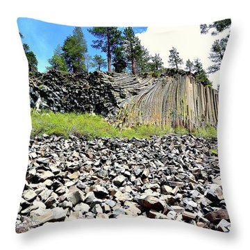 Devils Postpile Throw Pillow
