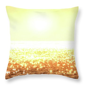 Rose Gold Diamonds Throw Pillow