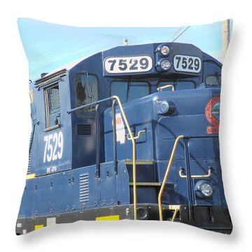 Diesel Engline Train Throw Pillow