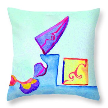 Digital Geometry Throw Pillow