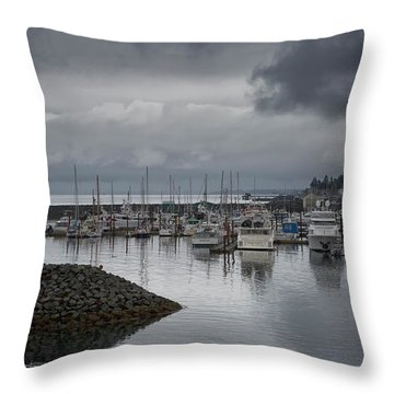 Discovery Harbour Throw Pillow by Randy Hall