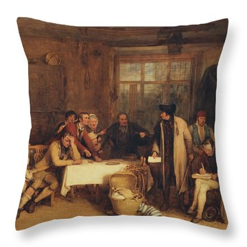 Distraining For Rent Throw Pillow