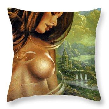 Diva Throw Pillow by Arthur Braginsky