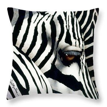 Do Zebras Dream In Color? Throw Pillow