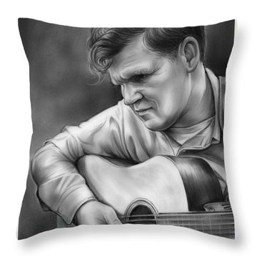 Doc Watson Throw Pillow