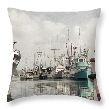 Docked At The Bay Throw Pillow