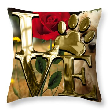 Dog Lover Collection  Throw Pillow