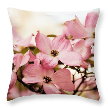Dogwood Delight Throw Pillow