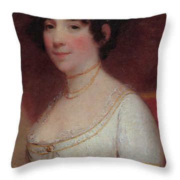 Dolley Madison Throw Pillow by Photo Researchers