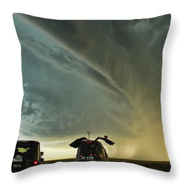Dominating The Storm Throw Pillow