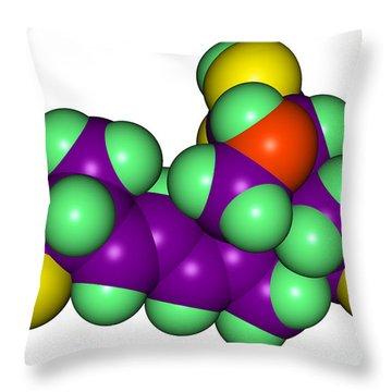 Domoic Acid Molecular Model Throw Pillow