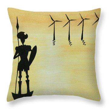 Don Quixote Throw Pillow