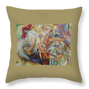 Doodle Do Throw Pillow by Heather Roddy