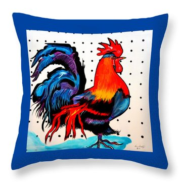 Doodle Do Rooster Throw Pillow