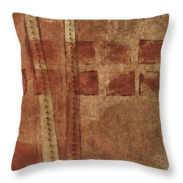 Dotted Squares Mixed Media 1 Throw Pillow