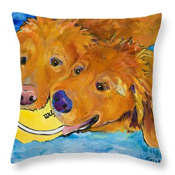 Double Your Pleasure Throw Pillow by Pat Saunders-White