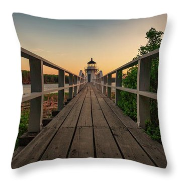 Doubling At Dusk Throw Pillow