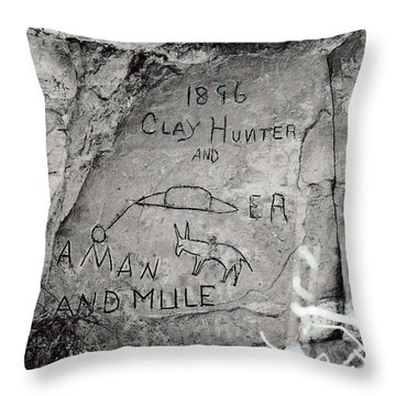 Throw Pillow featuring the photograph Down On The Blue River by Juls Adams