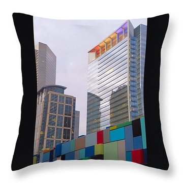 #downtown #houston From #discoverygreen Throw Pillow