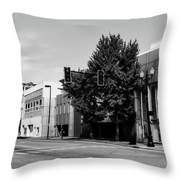 Downtown Huntington West Virginia Throw Pillow by L O C