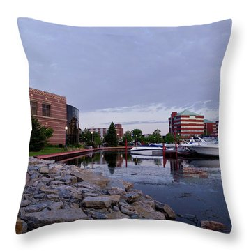 Throw Pillow featuring the photograph Downtown Neenah by Joel Witmeyer