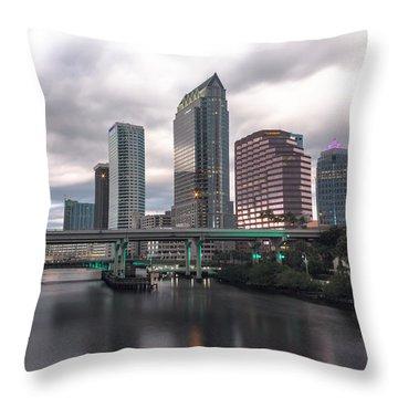 Downtown Tampa Throw Pillow