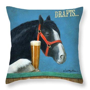 Drafts... Throw Pillow