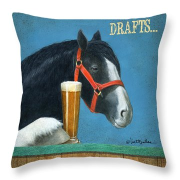 Drafts... Throw Pillow by Will Bullas