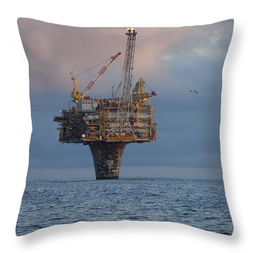 Draugen Platform Throw Pillow