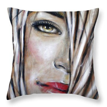 Throw Pillow featuring the painting Dream In Amber 120809 by Selena Boron