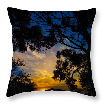 Dream Sunrise Throw Pillow