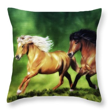 Dream Team Throw Pillow by Shari Nees