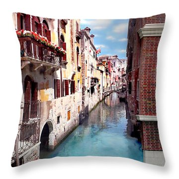 Dreaming Of Venice Panorama Throw Pillow