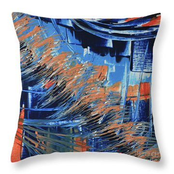 Throw Pillow featuring the painting Dreaming Sunshine  by Cathy Beharriell