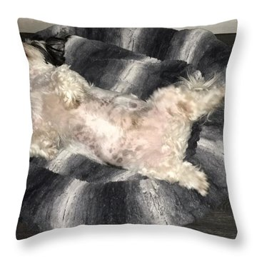 Dreamland Throw Pillow by Val Oconnor