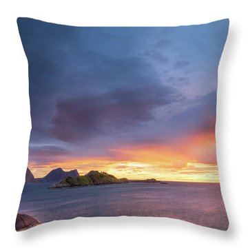 Dreamy Sunset Throw Pillow by Maciej Markiewicz