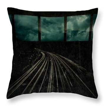 Drifting Throw Pillow