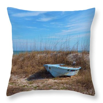 Dry Docked Throw Pillow by Bob Sample