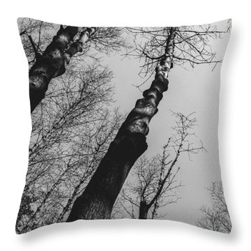 Dry Tree Throw Pillow