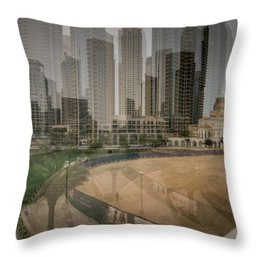 Dubai Marina  Throw Pillow