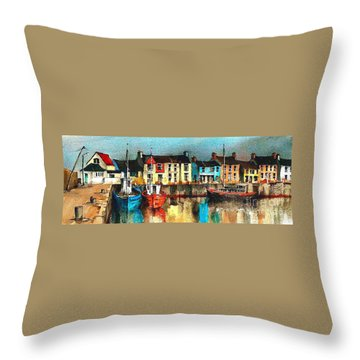 Dublin ... Skerries Harbour Throw Pillow