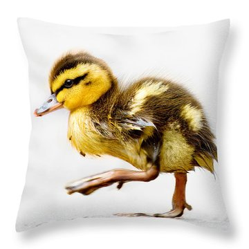 Duckling Parade Throw Pillow