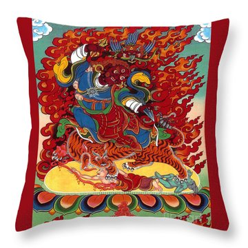Dudjom's Dorje Drollo Throw Pillow