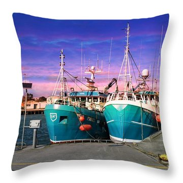 Dunmore East Harbour Throw Pillow