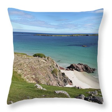 Throw Pillow featuring the photograph Durness - Scotland by Pat Speirs
